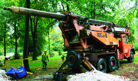 Drilling at Forestry Commission site In Buckinghamshire