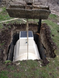 Sewage Treatment Plant being installed in Princes Risborough