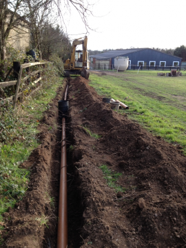 Middlesex Trenching for Sewage Treatment Plant Installation