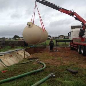Klargester Sewage Treatment Plant being installed at a popular tourist attraction