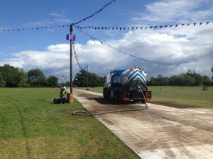 Weatherhead Tanker on site at Festival