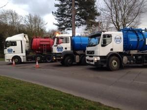Three Weatherhead Tankers on Emergency work