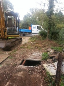 Old Clinker Bed system to be replaced with Marsh Sewage Treatment Plant