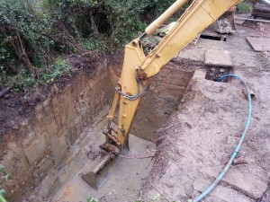 Excavation being dug for our Marsh Sewage Treatment Plant installation in Bicester
