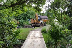 Protecting lawns during Installation