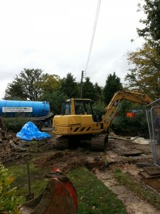 Weatherhead tanker aids the installation of a Marsh Sewage Treatment Plant in Bicester